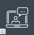 customer service thin line icon vector image