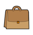 cute brown suitcase cartoon vector image vector image