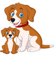 cute mother dog with her puppy vector image vector image