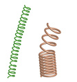 Deformed Chrome and green springs vector image