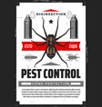 disensection and pest control fumigation vector image