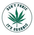 dont panic its organic emblem template vector image