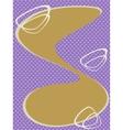 Dots retro background art Nouveau vector image vector image