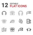 earphone icons vector image vector image