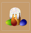 easter cake christian holiday orthodox easter vector image