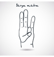 Element yoga Surya mudra hands vector image