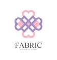 fabric original logo template creative design vector image vector image