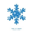 falling snowflakes Christmas snowflake silhouette vector image vector image