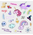 Fashion patch badges Magic set Stickers pins vector image vector image