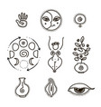 feminine and all seeing eye vector image
