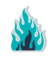 fire flame burning vector image vector image