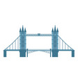 flat style tower bridge london england symbol vector image vector image