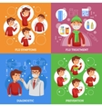 Flu Concept 4 Flat Square Banner vector image vector image
