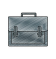 grated briefcase object to save documents paper vector image vector image