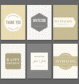 greeting card and invitation template vector image vector image
