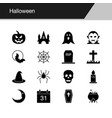 halloween icons design for presentation graphic vector image vector image