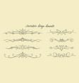 hand drawn flourishes dividers graphic lovely vector image vector image