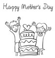 happy mother day style design collection vector image vector image