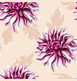 high detailed dahlia seamless vector image