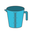 jar with handle and measure scale colorful vector image vector image