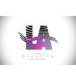 la l a zebra texture letter logo design