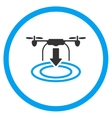 Landing Copter Icon vector image vector image