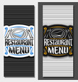 layouts for restaurant menu vector image