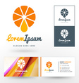 Logo Template Fresh Orange Juice Concept Logo vector image