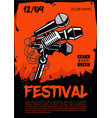 music festival poster template rock party vector image vector image