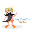 my vacation time vector image