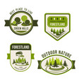 nature park garden square and forest symbol set vector image vector image