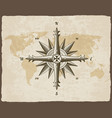 nautical antique compass sign on old paper texture