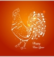 new year card with a rooster in 2017 vector image vector image