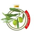 olive oil stamp vector image