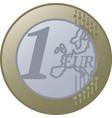 one european union euro coin vector image vector image