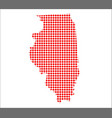red dot map of illinois vector image