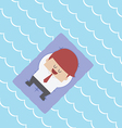 Relaxed Businessman Floating on Pool Raft vector image vector image