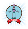 robots technology engineering banner vector image