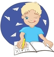 school boy vector image
