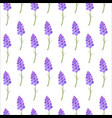 seamless background stylized lavender flowers vector image vector image
