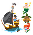 set of labels for design items with a pirate vector image vector image