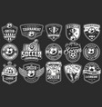 set of soccer emblems vector image