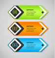 Shine colorful options banners or buttons vector image vector image