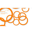 simple circles background with color orange and vector image