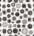 Sport ball silhouettes seamless pattern vector image vector image