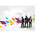 standing businessman silhouette vector image vector image