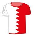 t-shirt flag bahrain vector image