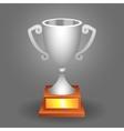 Trophy silver cup vector image vector image