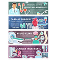 urologoy nephrology medical clinic personnel vector image vector image