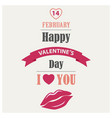 valentines poster in flat design template vector image vector image